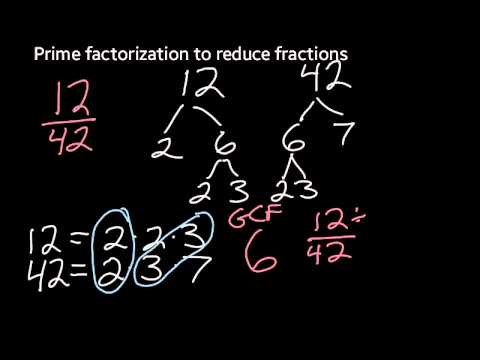 Reducing Fractions Using Prime Factorization
