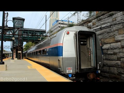 Amtrak Train #174 with #10005 Catenary Inspection at New Rochelle, NY RR