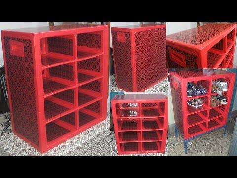 DIY - Cardboard Shoe Organizer Rack
