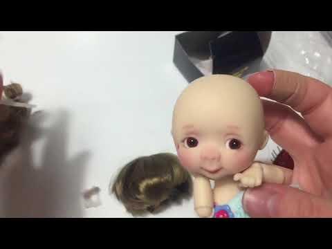 Tiny BJD Wig Fitting Tutorial