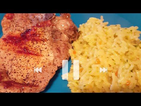 Grilling pork chops on George Foreman grill.👍