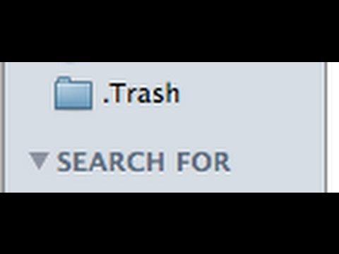 Put Your Trash Folder In Your Finder's Sidebar