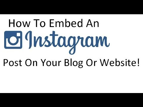 How to embed an instagram picture or video to your website or blog
