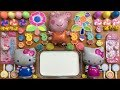 PEPPA PIG And Hello Kitty Slime Mixing Random Things Into Glossy Slime Satisfying Slime Videos