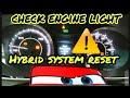 Quick Reset hybrid system .. , check engin light #Toyota #Avalon, #Camry #Prius #lexus #Honda