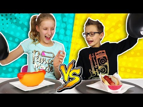 SQUISHY FOOD vs REAL FOOD!