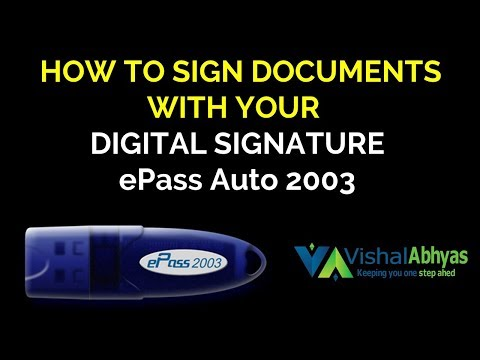 How to use digital signature for signing documents