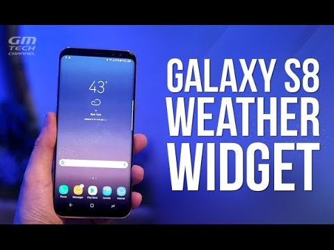 Galaxy S8 Weather Widget for Any Android Phone