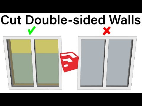 Cut Double-sided Walls With Hole Punching Tool   SketchUp