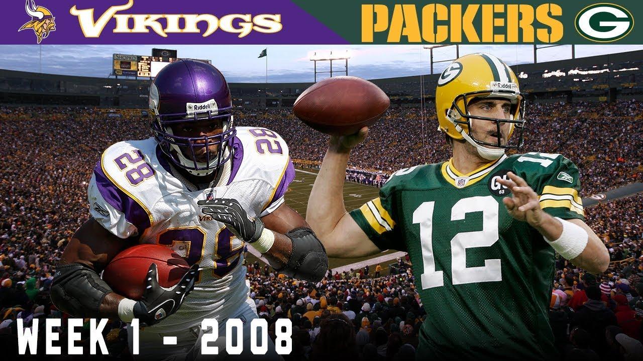 Aaron Rodgers' FIRST Start! (Vikings vs. Packers, 2008)