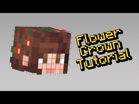 How to Make a Flower Crown on your Minecraft Skin