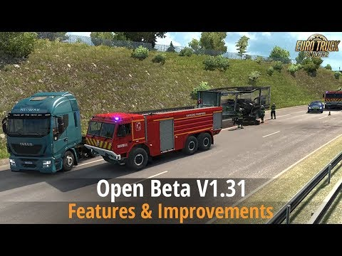 ETS2 Beta v1.31 (Power/air lines, Random Road events, 8x4 Scania R and S, New AI Vehicles)