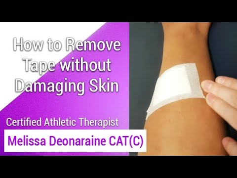 How to Remove Tape Without Damaging Skin