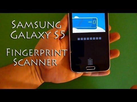 Samsung Galaxy S5 Fingerprint Scanner Setup and Demo