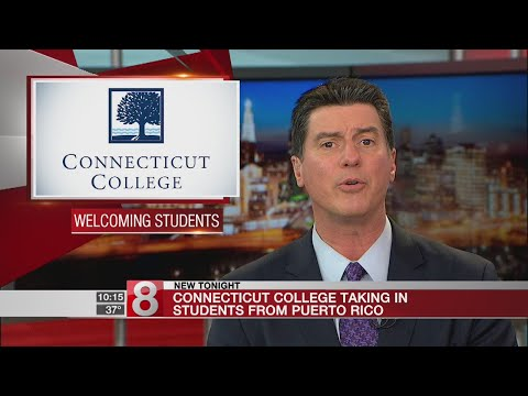 Connecticut College taking in students from Puerto Rico