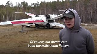 Star Wars enthusiasts build X-wing starfighter replica