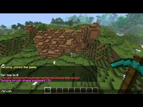 The Basics of using WorldEdit Brushes for Minecraft