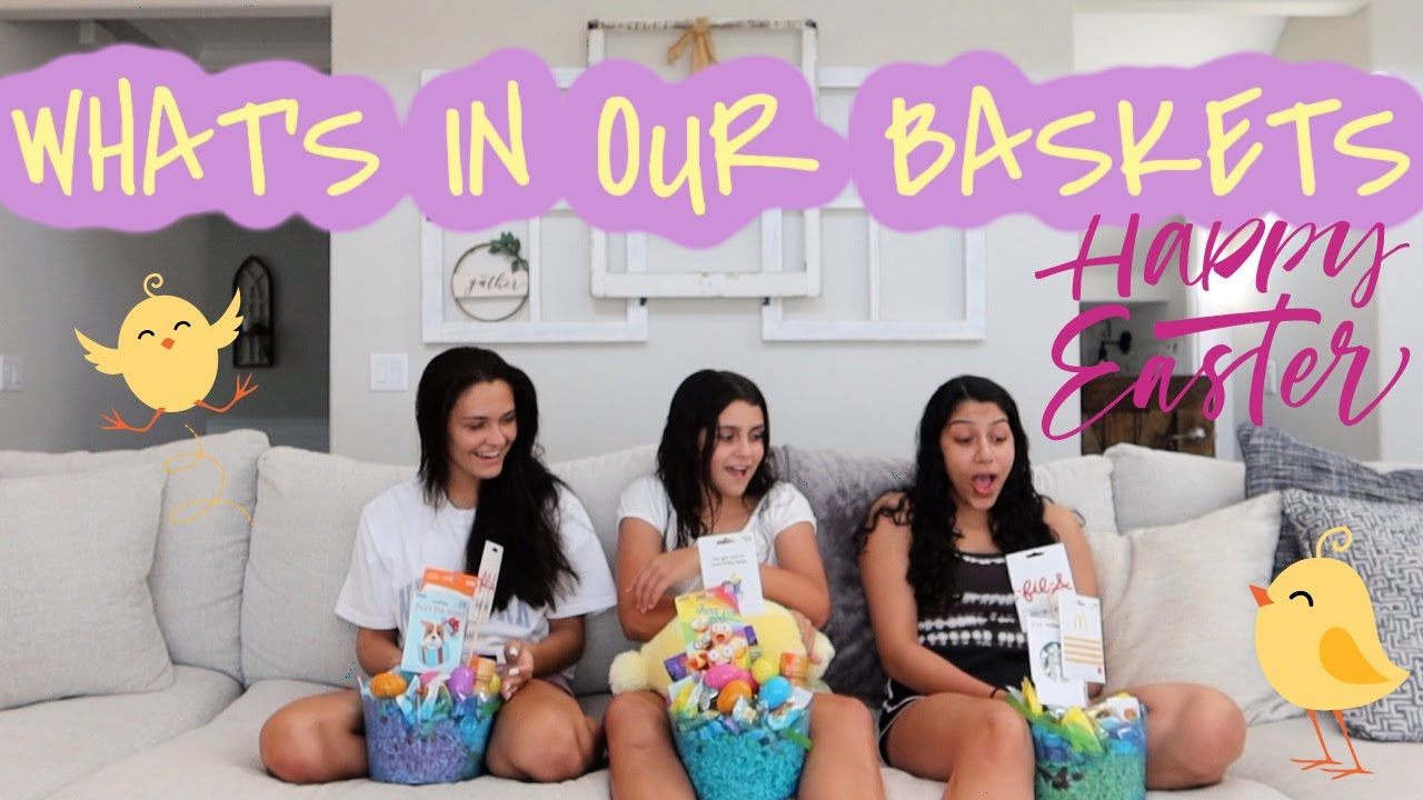 WHAT'S IN OUR EASTER BASKETS 2021? WHAT I GOT MY KIDS FOR EASTER! EMMA AND ELLIE