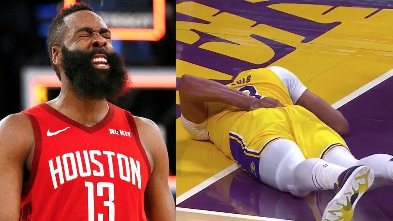 "NBA ""Scary Fall"" MOMENTS"