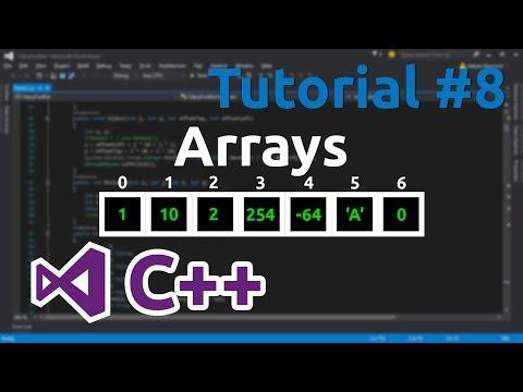 C++ Tutorial 8 - Arrays