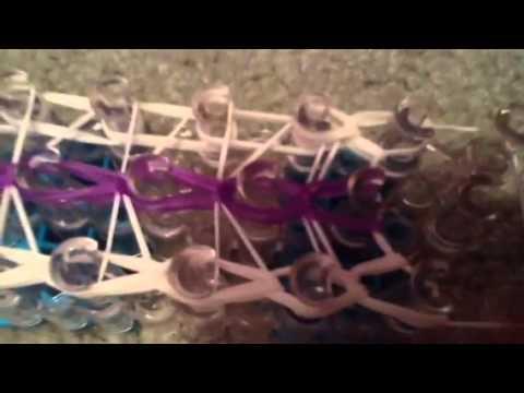 How to make a rainbow loom triple fishtail bracelet