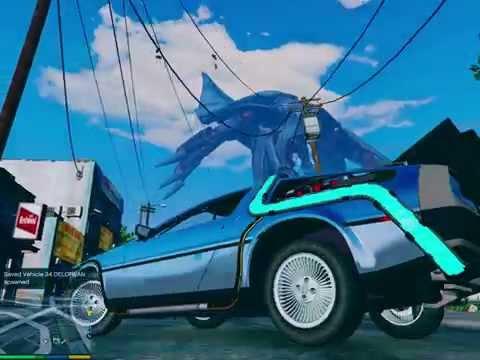 GTA V Back To The Future Delorean Time Machine by Madgaz