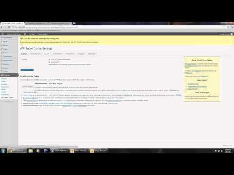 Speed up website using WP Super Cache [HD]