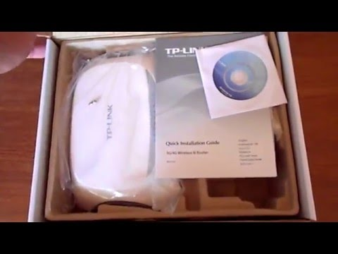 3G/4G Wireless N Router TP-LINK TL-MR3420 UNBOXING