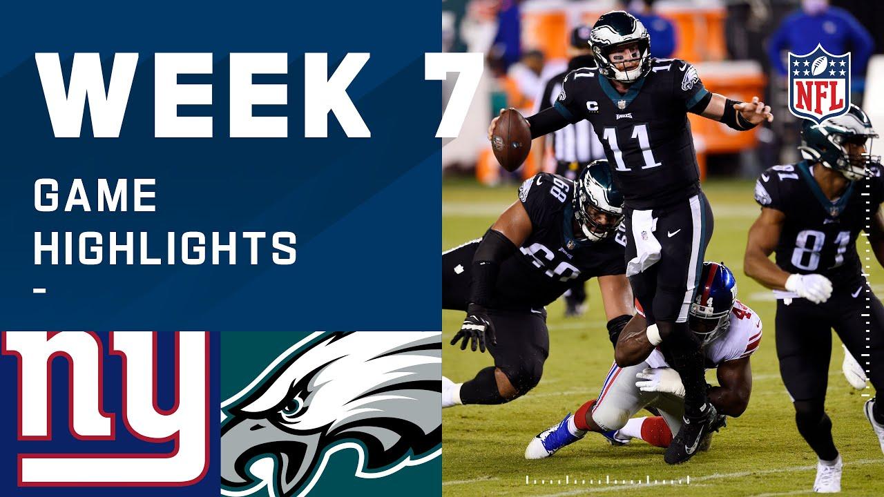Giants vs. Eagles Week 7 Highlights | NFL 2020