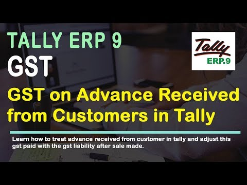 GST on Advance Payment Received from Customer Implement in Tally Release 6| veertutorial.com