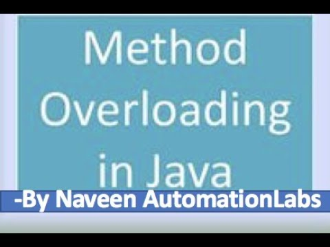 What is Method and Method Overloading in Java