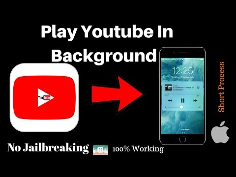 How To Play Youtube In The Background on iphone | ios 11.1.0 (No Jailbreak)