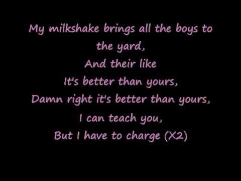 Milkshake with lyrics