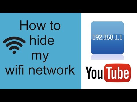 How to hide my wifi network signal to others
