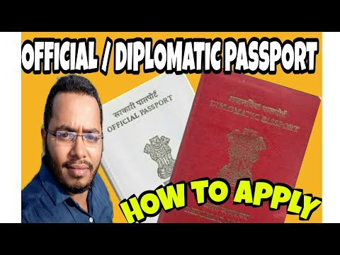 Official / Diplomatic Indian Passport- How to Apply