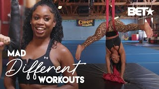 Will Capri Curves Perform The Best Circus Trapeze Act?! | Mad Different Workouts