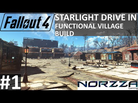 Fallout 4: Starlight Drive In LET'S BUILD #1