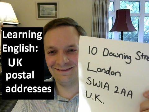 English pronunciation 57: UK postal addresses (British accent)