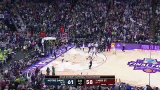 Notre Dame Game Winning National Championship Buzzer Beater against Mississippi State