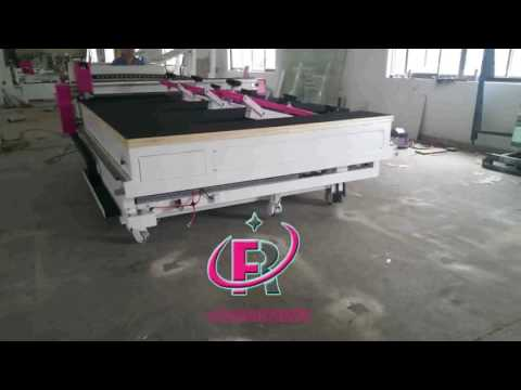 aii lin one glass cutting machine RF3826AIO freely walking video
