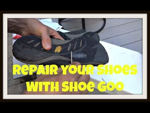 Athletic Shoe Repair With Shoe Goo (Shoe Glue)