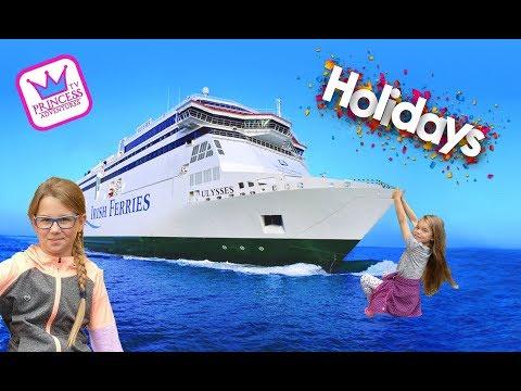 Holiday time Inside Cruise IRISHFERRIES Ulysses ferry to UK from Ireland