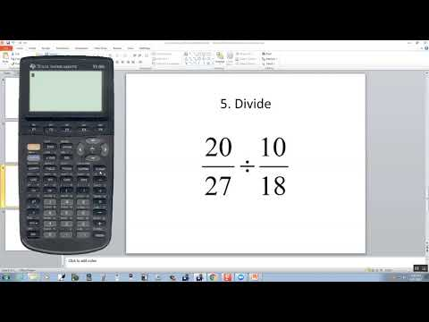 Technology in College Algebra - Fractions - TI-86