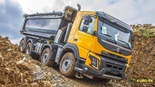 Volvo Trucks In Construction - Volvo Fmx Show Czech 2016