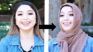 Women Try Wearing Hijabs For Hijab Day
