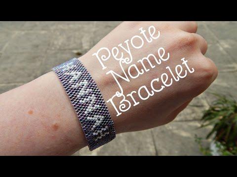 DIY Peyote Beaded Name Bracelet How To PLL Inspired ¦ The Corner of Craft