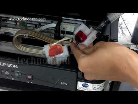 Video Tutorial Sedot /vacuum Catridge Printer Epson L220 L210