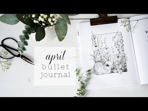 PLAN WITH ME | April 2018 Bullet Journal + Bunny Drawing
