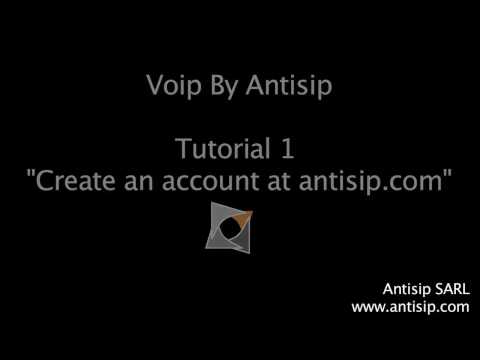 Tuto1: create an account at sip.antisip.com