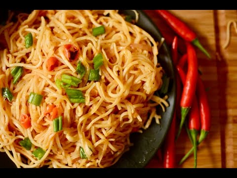 Garlic Noodles Recipe | Restaurent Style Noodles Recipe In Hindi